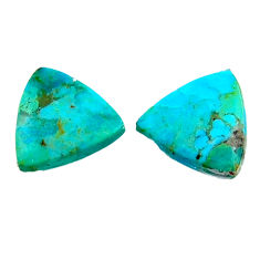 8.10cts arizona mohave turquoise green 14x14 mm pair loose gemstone s19115
