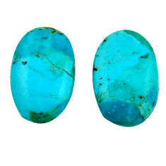 8.25cts arizona mohave turquoise green 17.5x11 mm pair loose gemstone s19118