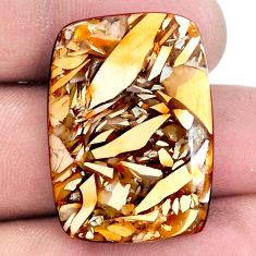 21.20cts brecciated mookaite (australian jasper) 29x21 mm loose gemstone s20843