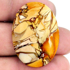 30.10cts brecciated mookaite (australian jasper) 33x24 mm loose gemstone s20848