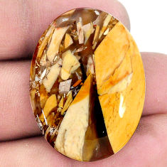 35.05cts brecciated mookaite (australian jasper) 34x25.5mm loose gemstone s20853