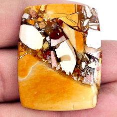 42.35cts brecciated mookaite (australian jasper) 35x28 mm loose gemstone s20844