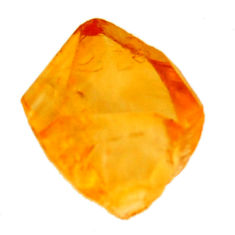 9.45cts citrine rough yellow rough 12.5x12.5 mm fancy loose gemstone s18392