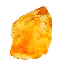 11.35cts citrine rough yellow rough 13.5x12 mm fancy loose gemstone s18399