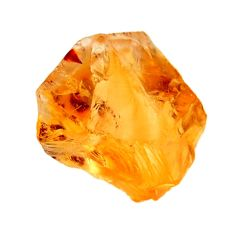 12.40cts citrine rough yellow rough 15x12.5 mm fancy loose gemstone s18387