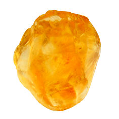 21.30cts citrine rough yellow rough 17x14 mm fancy loose gemstone s18395