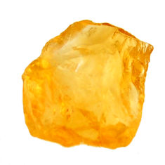 13.45cts citrine rough yellow rough 17x15 mm fancy loose gemstone s18384