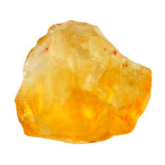 17.30cts citrine rough yellow rough 17x15 mm fancy loose gemstone s18393
