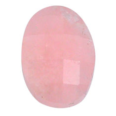 Faceted 13.15cts morganite pink cabochon 19x13 mm oval loose gemstone s20559