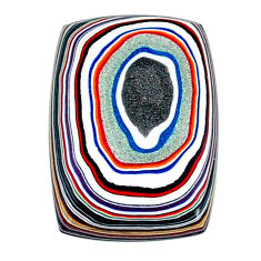 6.70cts fordite detroit agate cabochon 22x16 mm octagan loose gemstone s22544