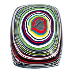 11.30cts fordite detroit agate cabochon 22x17.5 mm cushion loose gemstone s21359