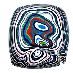 12.40cts fordite detroit agate cabochon 22x19 mm cushion loose gemstone s21356