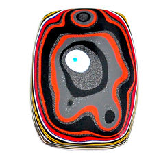 6.80cts fordite detroit agate cabochon 25x17.5 mm octagan loose gemstone s22473