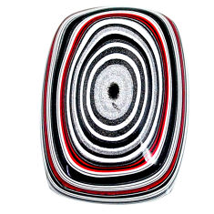12.65cts fordite detroit agate cabochon 25x17.5 mm octagan loose gemstone s22479