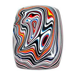 12.30cts fordite detroit agate cabochon 25x18 mm octagan loose gemstone s22478
