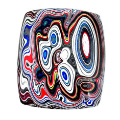 10.20cts fordite detroit agate cabochon 25x20 mm octagan loose gemstone s22459