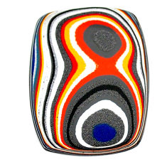 5.95cts fordite detroit agate cabochon 26x20 mm octagan loose gemstone s22427