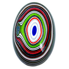 9.45cts fordite detroit agate cabochon 27x17 mm oval loose gemstone s21345