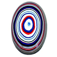 8.15cts fordite detroit agate cabochon 27x17 mm oval loose gemstone s21352