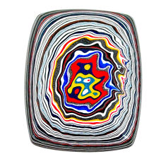 13.80cts fordite detroit agate cabochon 28x22 mm octagan loose gemstone s22431
