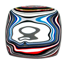 12.80cts fordite detroit agate cabochon 28x27.5 mm cushion loose gemstone s22432
