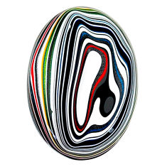 11.90cts fordite detroit agate cabochon 29x19 mm oval loose gemstone s22447