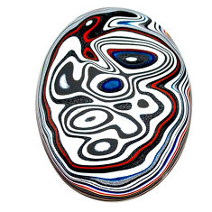 10.25cts fordite detroit agate cabochon 29x22 mm oval loose gemstone s22436