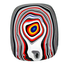 12.30cts fordite detroit agate cabochon 29x23 mm octagan loose gemstone s22402