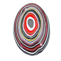 8.80cts fordite detroit agate cabochon 32.5x21 mm oval loose gemstone s22439
