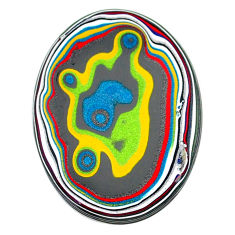 8.65cts fordite detroit agate cabochon 32x23 mm oval loose gemstone s22425