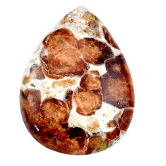 45.20cts garnet in limestone spessartine 35x25 mm pear loose gemstone s20893