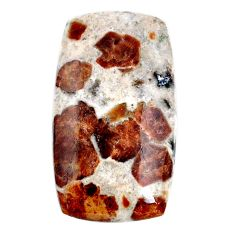 37.65cts garnet in limestone spessartine 37x20 mm octagan loose gemstone s20889