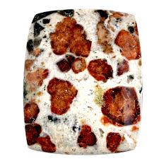 57.30cts garnet in limestone spessartine 37x29 mm octagan loose gemstone s20884