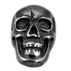 15.10cts gun metal metalic carving 17.5x12 mm fancy skull loose gemstone s18161