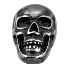 15.10cts gun metal metalic carving 17.5x12 mm fancy skull loose gemstone s18165