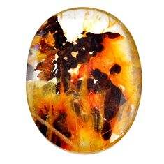 Natural 136cts scenic russian dendritic agate 48x36mm oval loose gemstone s20061