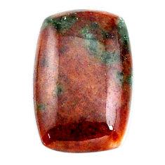 Natural 17.10ct grass garnet cabochon 23x15mm octagon loose gemstone s21031