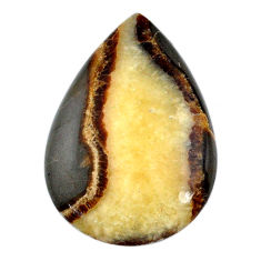 Natural 37.45ct septarian gonads cabochon 38x26.5 mm pear loose gemstone s20968
