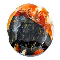 Natural 46cts scenic russian dendritic agate 29x25mm oval loose gemstone s20082