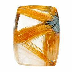 Natural 8.45c star rutilated quartz golden 16x11mm octagan loose gemstone s21209