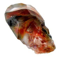 Natural 68.10cts angel phantom quartz brown rough 36x18 mm loose gemstone s19902