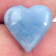 angelite blue cabochon 15.5x15.5 mm heart loose gemstone s17293