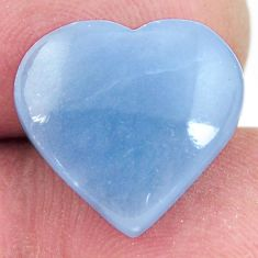 Natural 8.10cts angelite blue cabochon 15x14 mm heart loose gemstone s17284