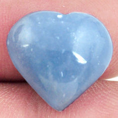 Natural 7.40cts angelite blue cabochon 15x14 mm heart loose gemstone s17300