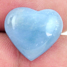 Natural 7.35cts angelite blue cabochon 15x14 mm heart loose gemstone s17305