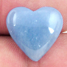 angelite blue cabochon 15x14 mm heart loose gemstone s17309