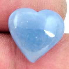 Natural 6.35cts angelite blue cabochon 15x14 mm heart loose gemstone s17310