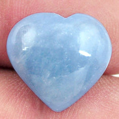 angelite blue cabochon 15x14 mm heart loose gemstone s17320