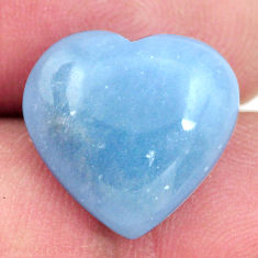 angelite blue cabochon 15x15 mm heart loose gemstone s17302
