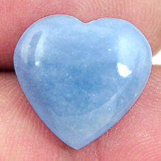 Natural 8.10cts angelite blue cabochon 15x15 mm heart loose gemstone s17317